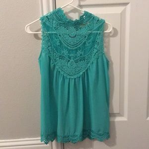 Lace blouse- turquoise